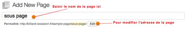 page name
